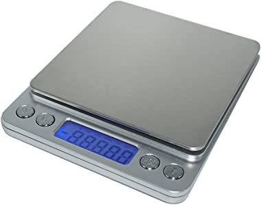 LOTEC 3000g 0.1g High-precision Digital Kitchen Scale Multifunction Jewelry Food Pocket Stainless Steel Weight Balance with B