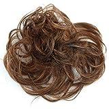 PRETTYSHOP 100% ECHTHAAR Haargummi Haarteil Haarverdichtung Zopf Haarband Haarschmuck Braun Mix H312l