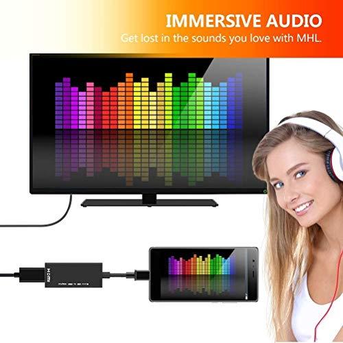MHLHDMI変換アダプタMicroUSBtoHDMI接続アダプタテレビ変換ケーブル1080P対応高解像度映像出力AVアダプタ2020最新設定不要Android対応(2)
