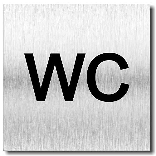Türschild WC Schild UV Druck 12 x 12cm - 3mm Aluverbund - Made in Germany - Art.Nr. 2003