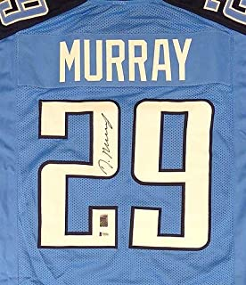 Tennessee Titans Demarco Murray Autographed Memorabilia Blue Jersey - Beckett Authentic