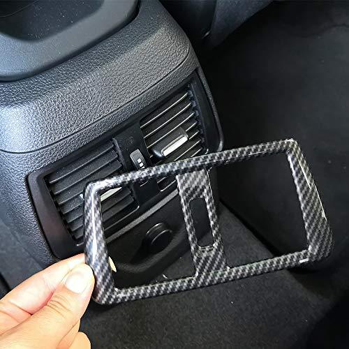 YIWANG Carbon Fiber ABS passend für 218i Gran Tourer F45 F46 2015-2019 Heck-Klimagerät Rahmen Abdeckung Zubehör