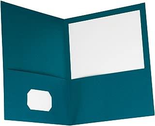 Oxford Two-Pocket Folders, Teal, Letter Size, 10 per Pack, (57582)