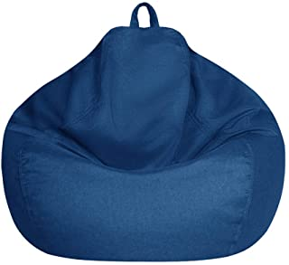 Bean Bag Chair Cover Only Without Filling - Extra Large, Stuffed Animal Storage&Memory Foam - Washable Premium Soft Cotton...