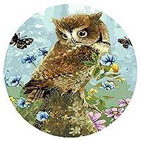 1000ピースパズル-大人の子供の花蝶フクロウの装飾画クリスマスパズル円形パズル