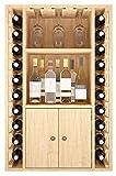 ZonaWine - Alacena Botellero Mixto Licores, Vinos y Copas. Fabricado en Madera de Pino o Roble, se Entrega montado. Mide 105/68/32 cm Fondo - Pino Tintado en Roble