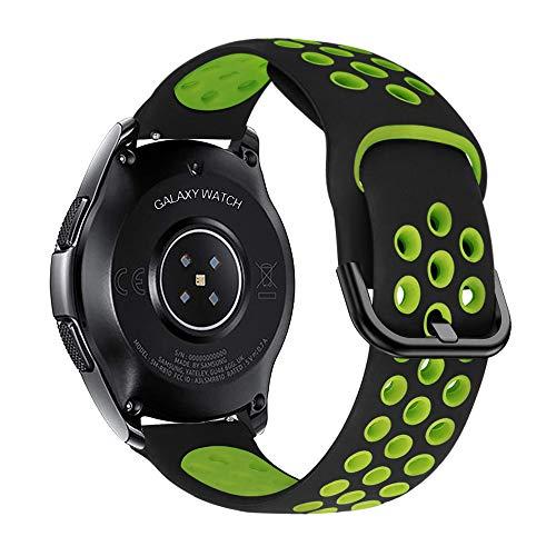 iBazal 22mm Correa Galaxy Watch 46mm Pulsera de Repuesto para Samsung Gear S3 Frontier Classic, Huawei Watch GT/GT 2 46 mm, Ticwatch Pro/E2/C2 Banda de Silicona Reloj Deportiva
