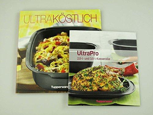TUPPERWARE Kochbuch Ultra Köstlich + Rezeptheft UltraPro Kasserolle 2,0 L 3,5 L Rezepte P 18571