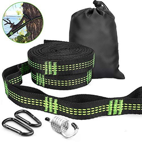 Gifort Hammock Straps, 300cm Long Hammock Tree Hanging Straps 2Pack with 2 Heavy Duty Lock Snap Hook Carabiners and Carrying Bag, Max Load 700lbs, Fit All Garden Outdoor Camping Hammocks