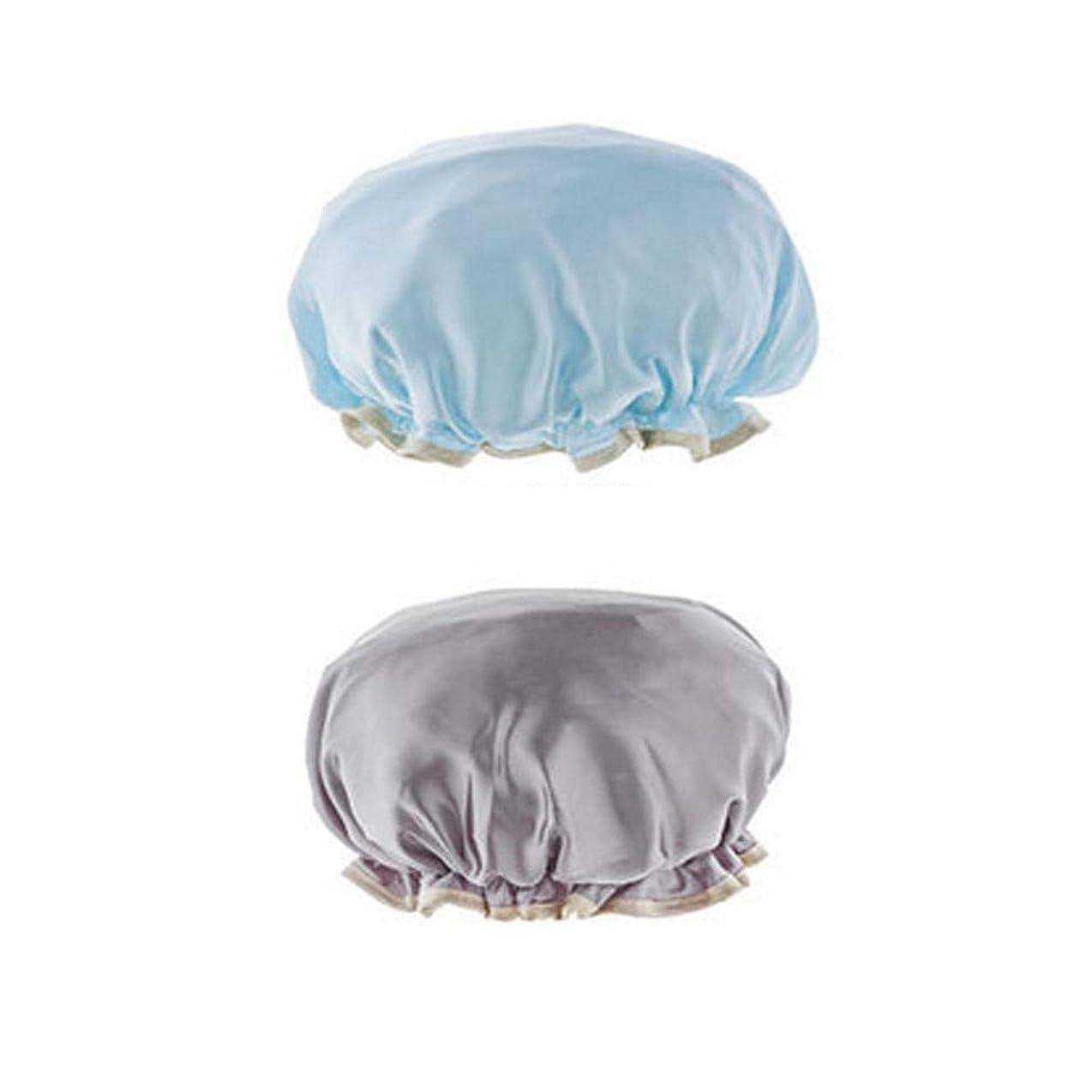 寄り添う楽しむトレイYRYRYP キャップシャワー、女性はすべての髪の長さと厚さの女性のためのキャップデラックスシャワーキャップシャワー - 防水やカビ耐性、再利用可能なシャワーのキャップを。 バス用品 (Color : 4)