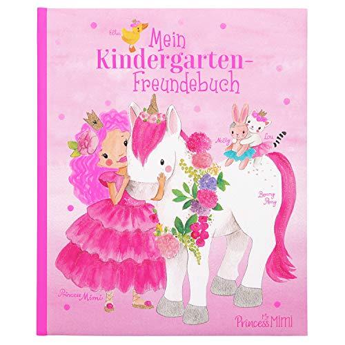 Depesche 10282 Princess Mimi - Kindergarten-Freundebuch, Freundschaftsbuch mit 96 Seiten und viel Platz für die Eintragungen der Freunde, ca. 18 x 21,5 x 1,5 cm