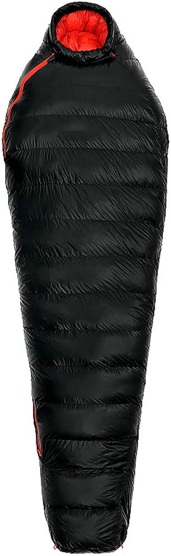 AX-outdoor products Einzelner Schlafsack mumifizierter Reiseschlafsack Reiseschlafsack Reiseschlafsack geeignet für 0 ° C Entendaunenfüllung Farbe schwarz 210  80 cm 680 g B07JNQXDNZ  Moderner Modus f35eed
