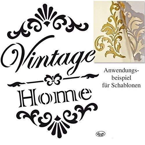 Viva Decor A4 Vintage Home Pochoir, Blanc