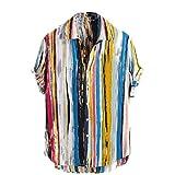 Autumn Camisas para Hombres De Manga Larga Camisa Hawaiana Botón De Impresión De Pesca Florales Camisas De Vestir para Hombre Camisas Solapas - Dan Vuelta Masculino,XXL