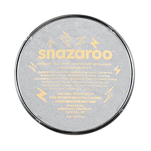 Snazaroo- Pintura facial y Corporal, 18 ml, Color plata metálico (Colart 1118766)
