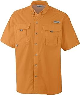 Men's PFG Bahama II Short Sleeve Shirt, Summer Orange, Small