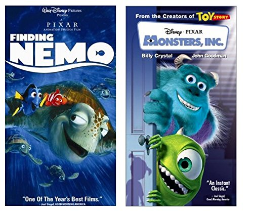 Finding Nemo + Monsters Inc. VHS