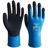 boutique1583 Wonder Grip Sicherheit Schutz Wasserdicht Latex Handschuhe Gärtnerei Blau