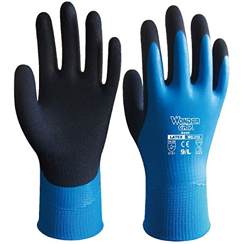 Wonder Grip bouti1583 Safety Waterproof Resistance Work Latex Gardening Nylon Gloves