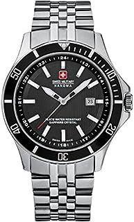 Swiss Military - 06-5161.7.04.007 - Reloj analógico de Cuarzo para Hombre con Correa de Acero Inoxidable, Color Plateado