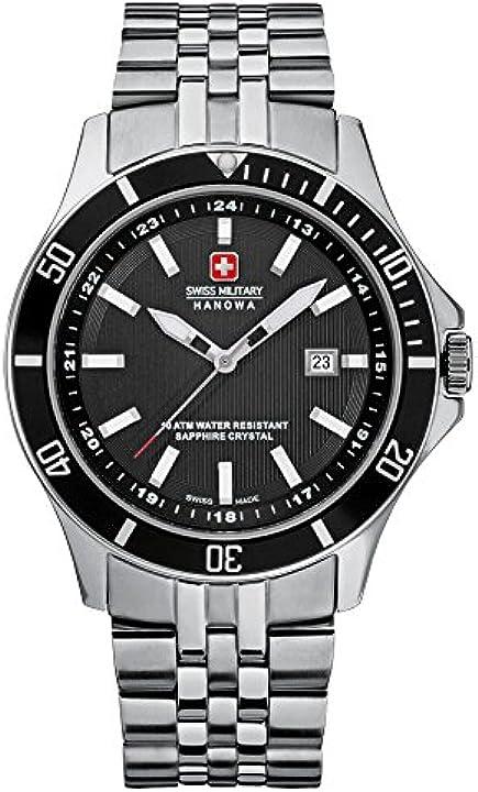 swiss military hanowa quarzo orologio da polso suin402 6-5161.7.04.007