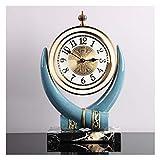 Relojes de Suelo Reloj de escritorio de estilo de marfil Estilo europeo Relojes creativos y relojes Moda Hogar Desktop Reloj Adornos Mute Modern Modern Relojes Relojes despertadores ( Color : A )