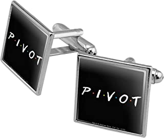 GRAPHICS & MORE Friends Pivot Square Cufflink Set - Silver or Gold