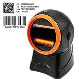 MUNBYN Lector de Código de Barras 1D/ 2D Omnidireccional Escáner de Código de GS1 Médico, Pistola Laser Barcode Scanner USB para Farmacia para Windows/Linux/Mac (Rojo-Negro)