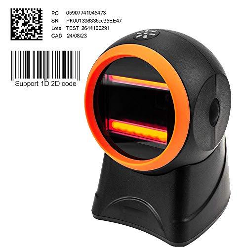 [Aggiorna 2.0] 2D CCD vivavoce codice a barre scanner MUNBYN auto sensore per supermercato, negozio al dettaglio, negozio di abbigliamento e Home Busi