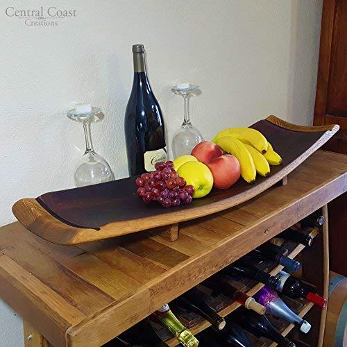 Stave Fruit Platter - Wine Barrel Handcrafted - Central Coast Creations - Wine Barrel Furniture