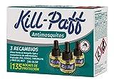 KILL-PAFF | Insecticida Eléctrico | Antimosquitos| Eficaz Contra Mosquito Tigre y Transmisores de Enfermedades Tropicales | Sin Olor|135 Noches de Protección