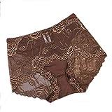 【Shop マーズ】ウエストセクシーな透明なレースのパンティー女性の下着さんビッグヤード (XL, ブラウン)