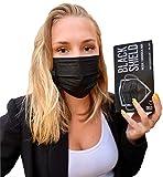 BLACK SHIELD - Lot de 100 - Masque médical chirurgical NOIR - TYPE 1 - Filtration EFB 95% - EN14683 - Certification CE - NOIR