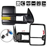 ECCPP Towing Mirrors, A Pair of Exterior Automotive Mirrors for 2003-2006 Chevy Silverado GMC Sierra with Dynamic Running Lights Arrow Signal Reversing Lights Power Operation Heated