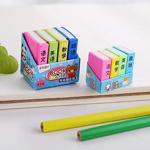 Student Radiergummi Lehrbuch Süßigkeiten Farbe Radiergummi Radiergummi Student Briefpapier 5Pcs