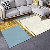 Alfombra Alfombra Chimenea Suave Alfombra de diseño geométrico Amarillo Azul Lavable Sofa Salon alfombras Pelo Corto Salon 60*160CM