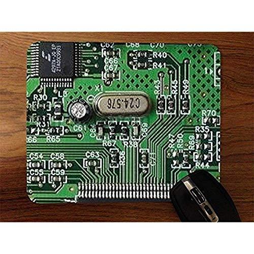 Base de goma, alfombrilla para ratones, alfombrilla para videojuegos, alfombrilla para ratón antideslizante, placa de circuito, alfombrilla para ratón de escritorio, 30 x 25 cm