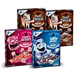 General Mills Cereal Monsters Cereal 4Count (Franken Berry, Boo Berry, Count Chocula, Cereal), 40 Oz