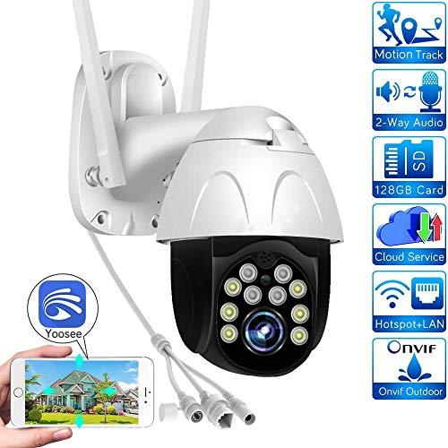 AINSS Außenüberwachungskamera 1080P IP-Kamera PTZ WiFi-Kamera HD-CCTV-Kamera Zwei-Wege-Audio Nachtsicht wasserdichte Bewegungserkennung, verwendet in Hinterhofgeschäften usw. WiFi-Kamera