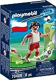 PLAYMOBIL- Sports & Action Jugador de Fútbol, Polonia, Multicolor (70486)