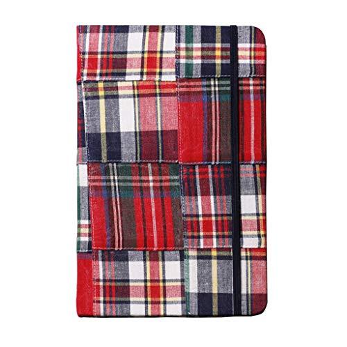 yangdan Cuaderno HF con cubierta de tela, libro de rejilla con páginas en blanco en el libro de mano (color rojo)