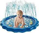 Vinteen 170cm Prinkle Und Splash Wasser-Spiel-Matte, Kinder Spielzeug Wassersprenkler Pad Summer Pool im Freien Garten Wasserspielzeug Aufblasbares Wasser-Spray-Spiele Aktivitäten Geschenke for Jungen