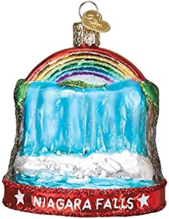 Old-World Christmas Glass Blown Ornament with S-Hook and Gift Box, Other Selection (Niagara Falls, 36268)