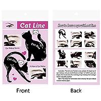 Luani 女性猫ラインアイメイクアップアイライナーユニークなステンシルテンプレートメイクアップツールキット目のためのスタイリッシュなアイライナーツール-ブラック