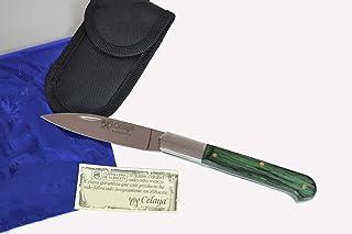 Couteau Celaya Cabritera Acier inoxidable bois vert