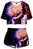 Giron My Hero Academia - Conjunto de ropa deportiva para mujer con estampado 3D Pajama colorido, estilo informal, de Bakugou Hero Activewear, manga Boku no Hero Cosplay Boku No Hero 12 XXL