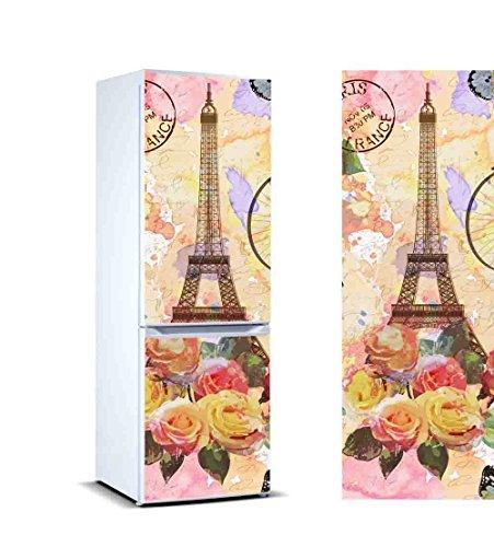 Pegatinas Vinilo Frigorífico Pintura Torre Eiffel