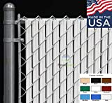 Wave Slat for Chain Link Fence (4 feet, White)