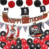 JeVenis 30 PCS pirate anniversaire décoration pirate fête décoration bateau pirate ballons pour bateau pirate fête à thème océan anniversaire