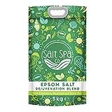 SALES DE EPSOM para aliviar los dolores musculares| Bolsa de 5 kg | Mejorado con aceites esenciales de eucalipto, menta y té verde |